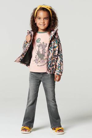 zomerjas Lakson met contrastbies en patches roze/groen