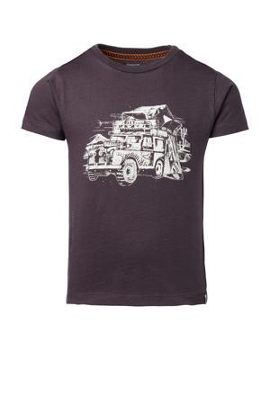 T-shirt Langholmtown van biologisch katoen zwart/wit