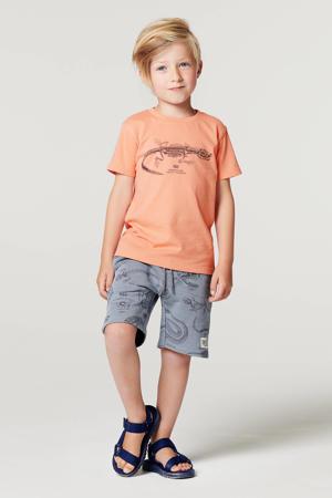 T-shirt Lattoncourt van biologisch katoen lichtoranje
