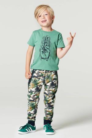 T-shirt B Tee SS Lansing van biologisch katoen groen/donkerblauw