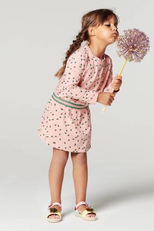 jurk Lansbury met biologisch katoen roze/groen/goud