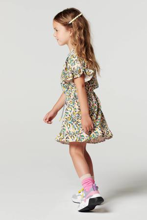 gebloemde jurk Langtonhill met biologisch katoen roze/groen