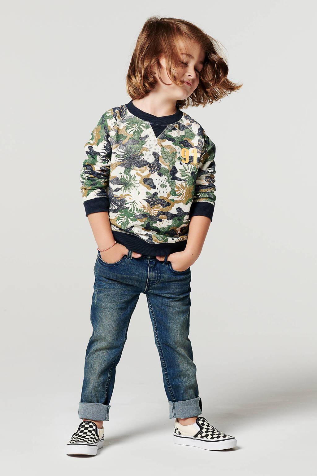 Noppies sweater Learmont met camouflageprint groen/beige/grijs, Groen/beige/grijs