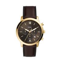Fossil horloge FS5763 Neutra Chrono goud, Bruin