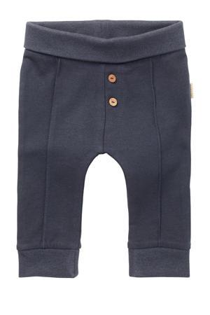 baby slim fit broek Mont Joli met biologisch katoen donkerblauw