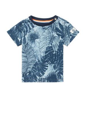 baby T-shirt Tonden met biologisch katoen donkerblauw/blauw