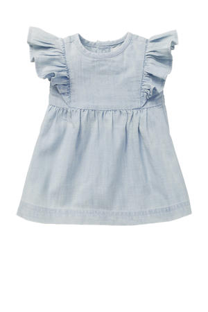 baby A-lijn jurk G Dress SS Magog met ruches lichtblauw