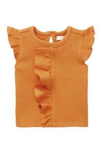 Noppies baby T-shirt Merial met ruches oranje, Oranje