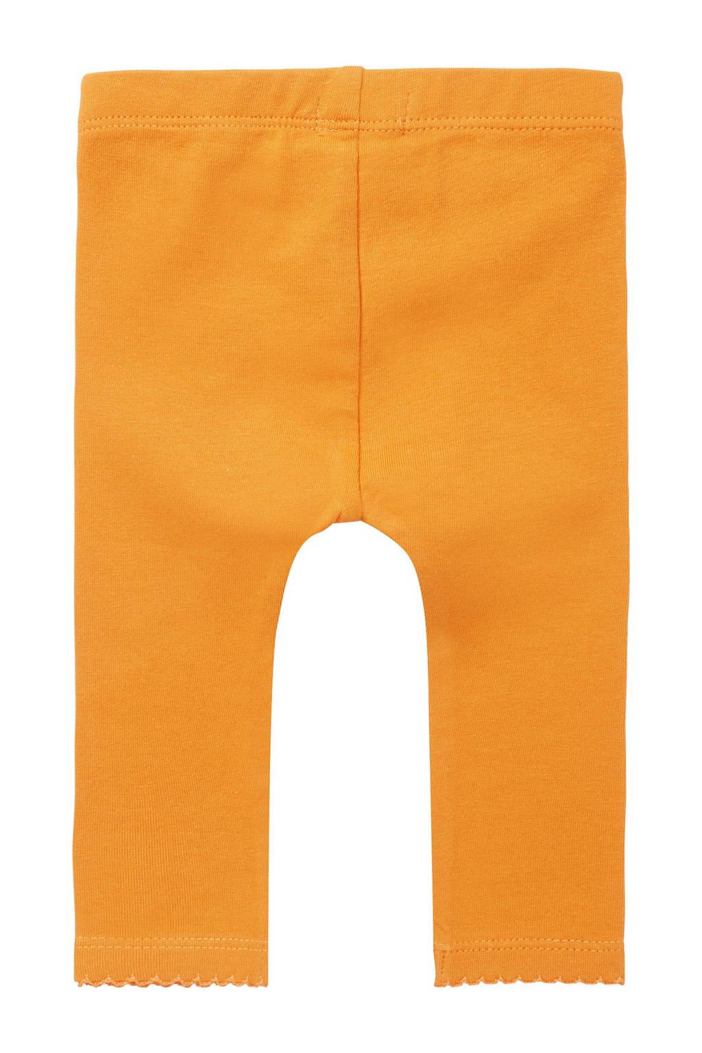 Noppies baby legging Maizy met biologisch katoen oranje, Oranje