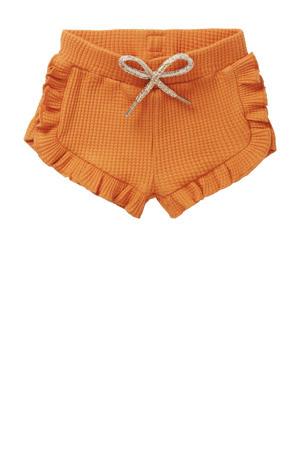 baby sweatshort G Short Merfy met biologisch katoen oranje