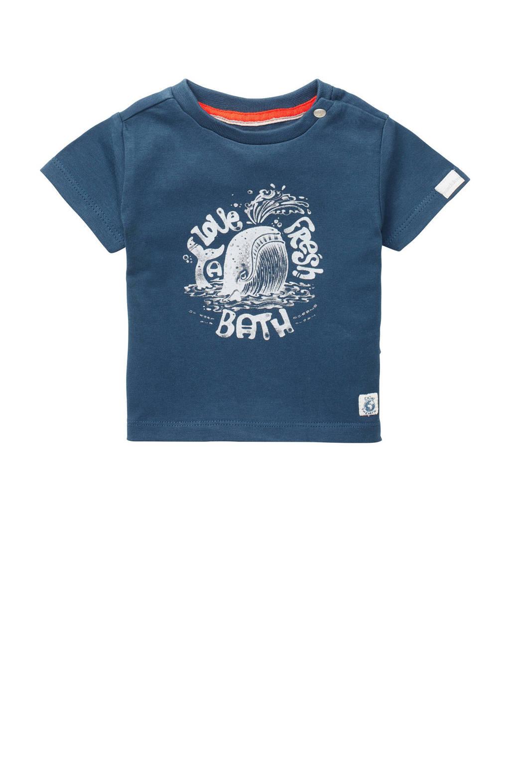 Noppies baby T-shirt Twisk met biologisch katoen blauw, Blauw