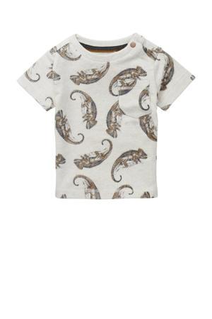 baby T-shirt Tyenna met biologisch katoen beige/bruin