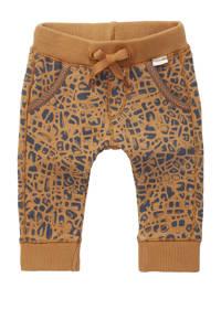 Noppies baby regular fit broek Terracina met biologisch katoen bruin/donkerblauw, Bruin/donkerblauw