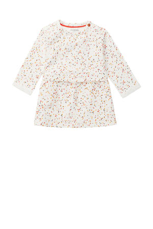 baby jurk Mudau met biologisch katoen wit/oranje/terra
