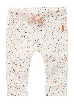 baby slim fit broek Moos met biologisch katoen wit/oranje/terra