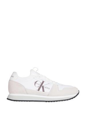 suède sneakers wit