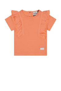 Retour Denim baby T-shirt Angel van biologisch katoen zalmroze, Zalmroze