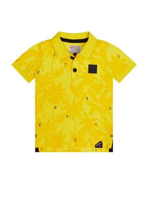 polo Felix met all over print fris geel