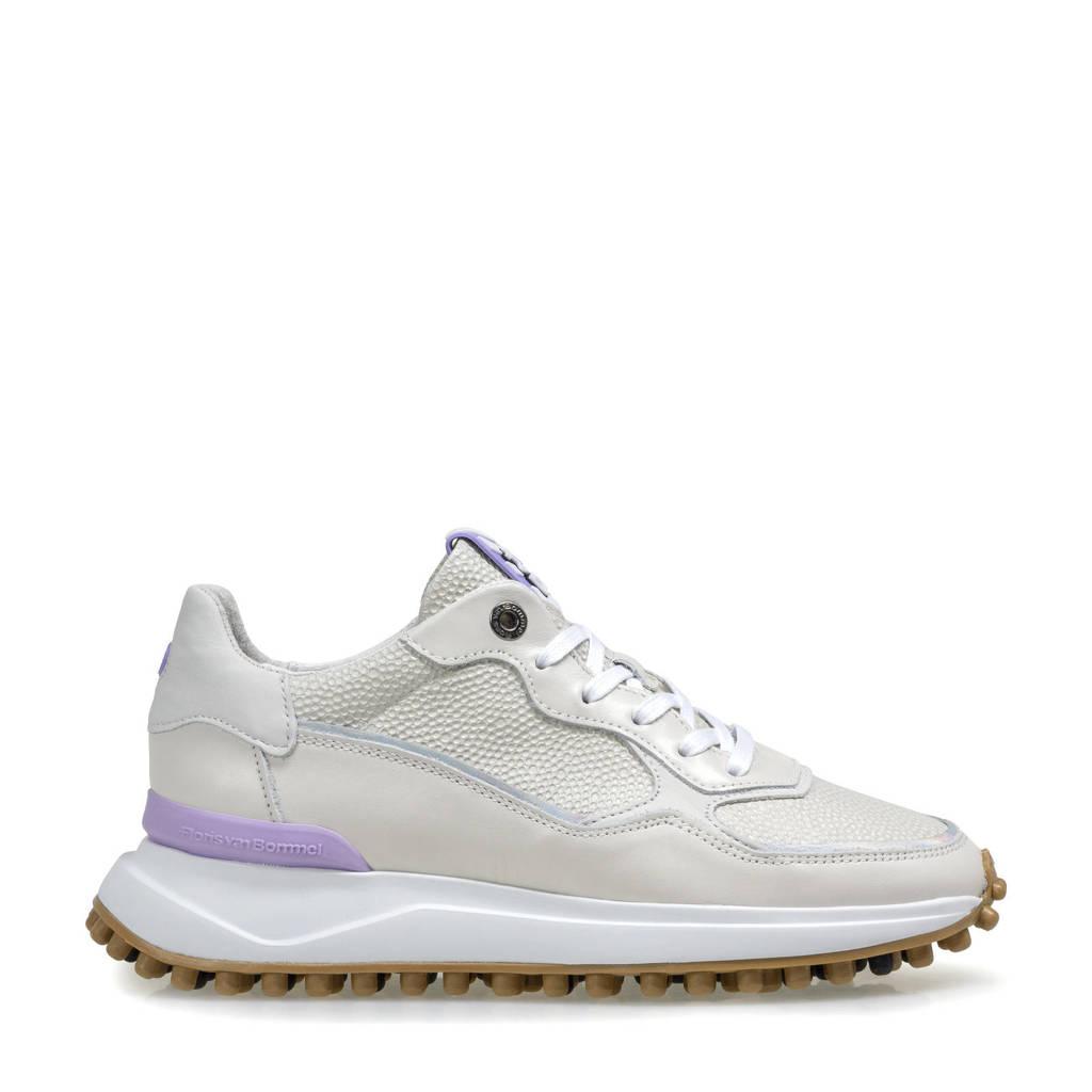 Floris van Bommel NOPPI  leren sneakers off white, Off white/Lila