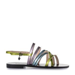Fai  leren sandalen multi/metallic