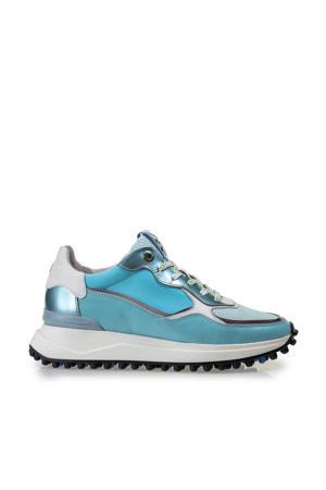 Noppi  leren sneakers blauw
