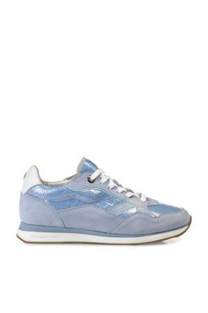 Figgi  nubuck sneakers lichtblauw