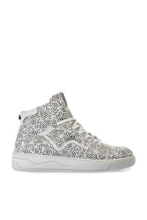 Iggi  hoge leren sneakers wit/zwart