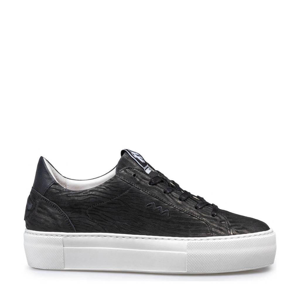 Floris van Bommel Vinni  leren sneakers zwart, Zwart