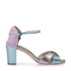 Candi  leren sandalettes lila/metallic
