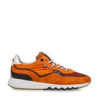 Floris van Bommel Nineti  suède sneakers oranje, Oranje
