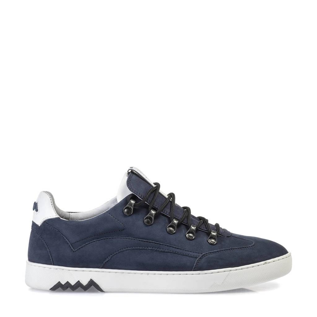 Floris van Bommel Armi  nubuck sneakers donkerblauw, Donkerblauw