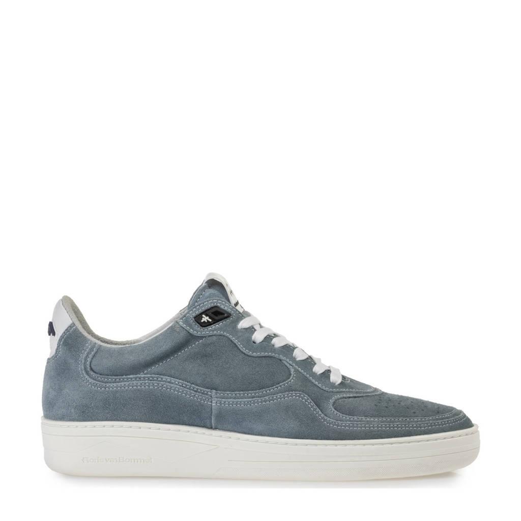 Floris van Bommel Wembli  suède sneakers grijsblauw, Grijsblauw