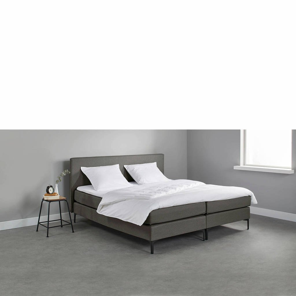 Beter Bed complete boxspring Oxford (180x200 cm), Donkergrijs