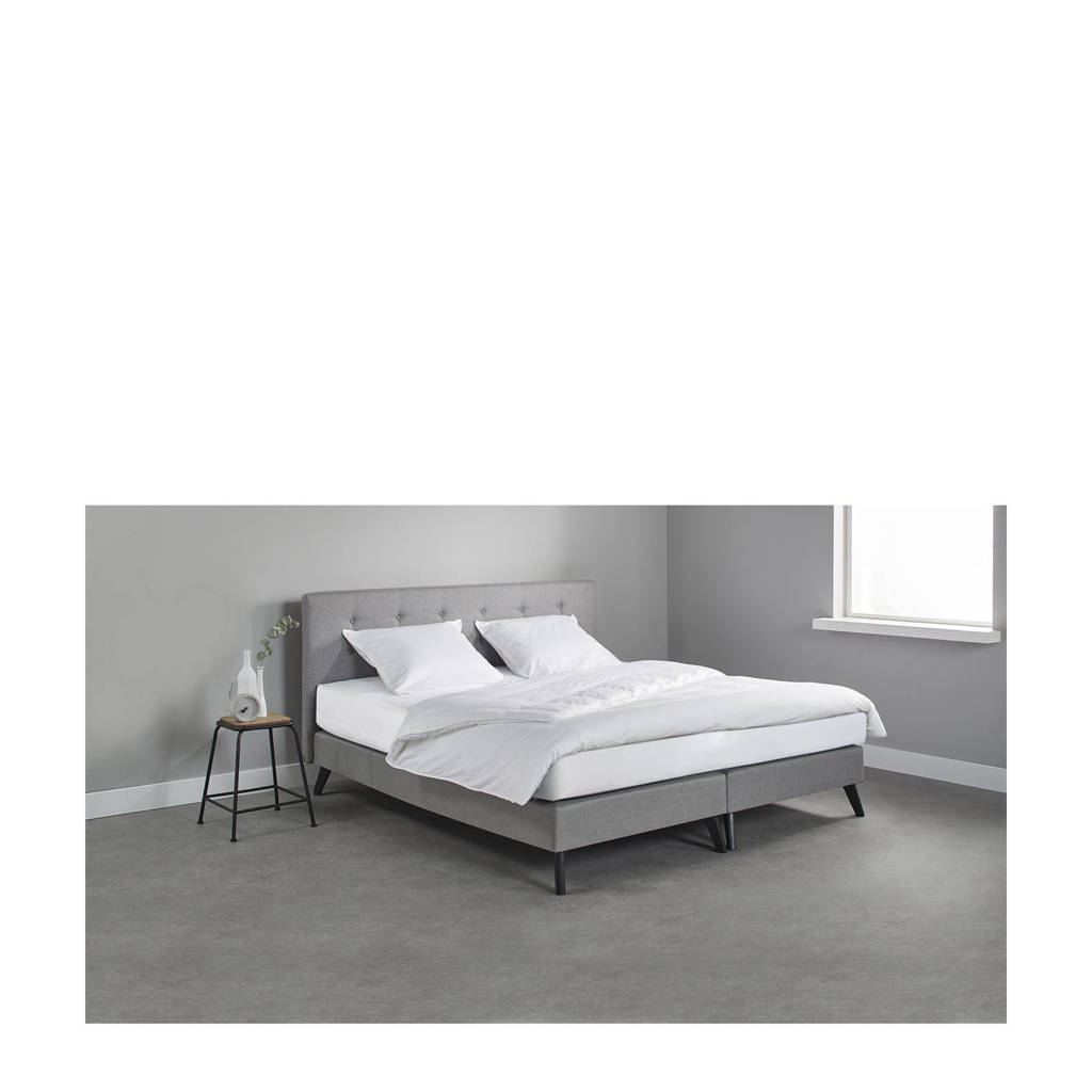 Beter Bed complete boxspring Liverpool (160x200 cm), Lichtgrijs
