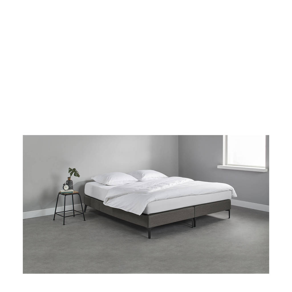 Beter Bed complete boxspring Sheffield (160x200 cm), Donkergrijs