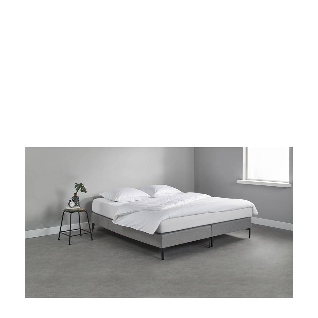 Beter Bed complete boxspring Sheffield (180x200 cm), Lichtgrijs