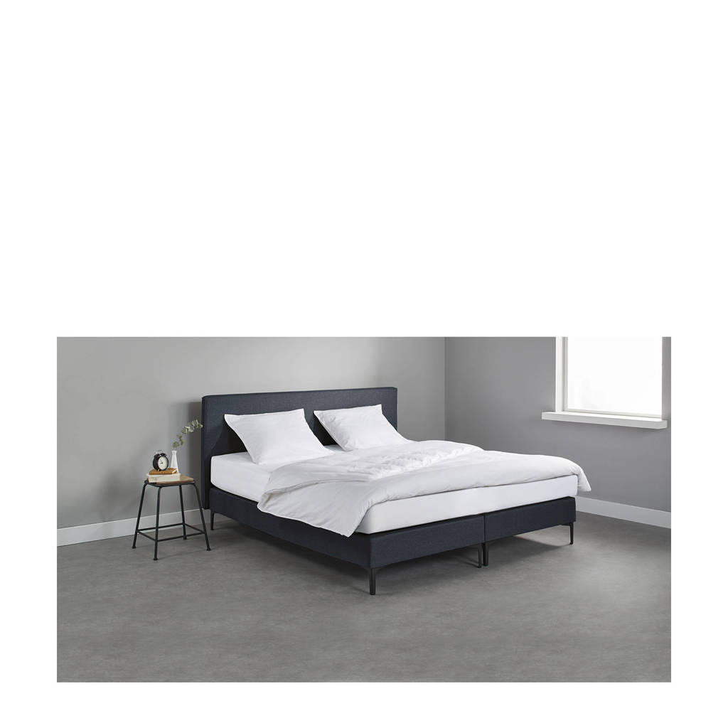 Beter Bed complete boxspring London (180x200 cm), Blauw
