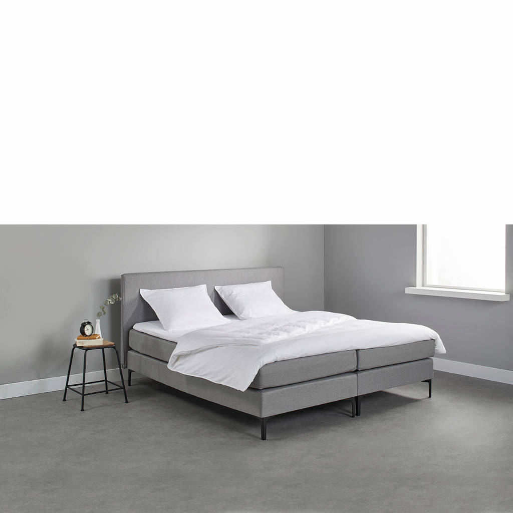 Beter Bed complete boxspring Oxford (140x200 cm), Lichtgrijs