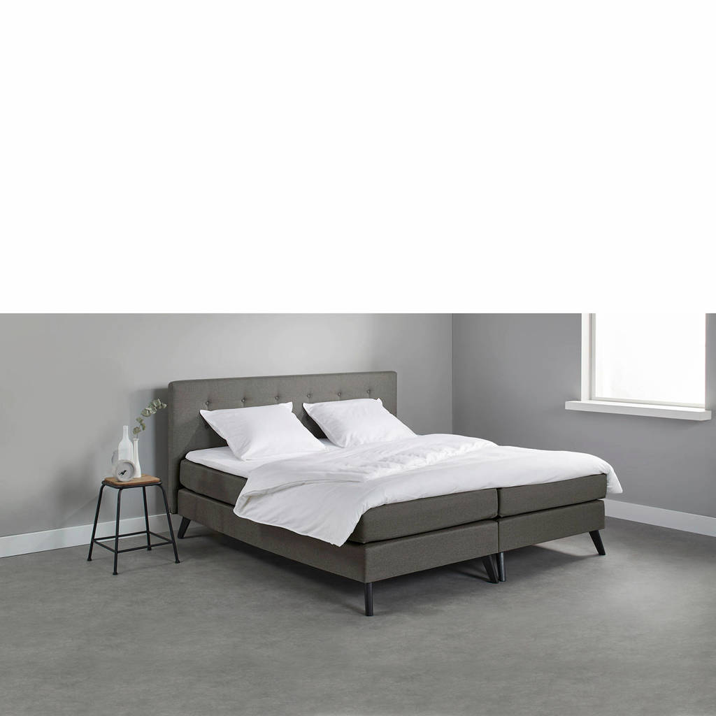 Beter Bed complete boxspring Nottingham (160x200 cm), Donkergrijs