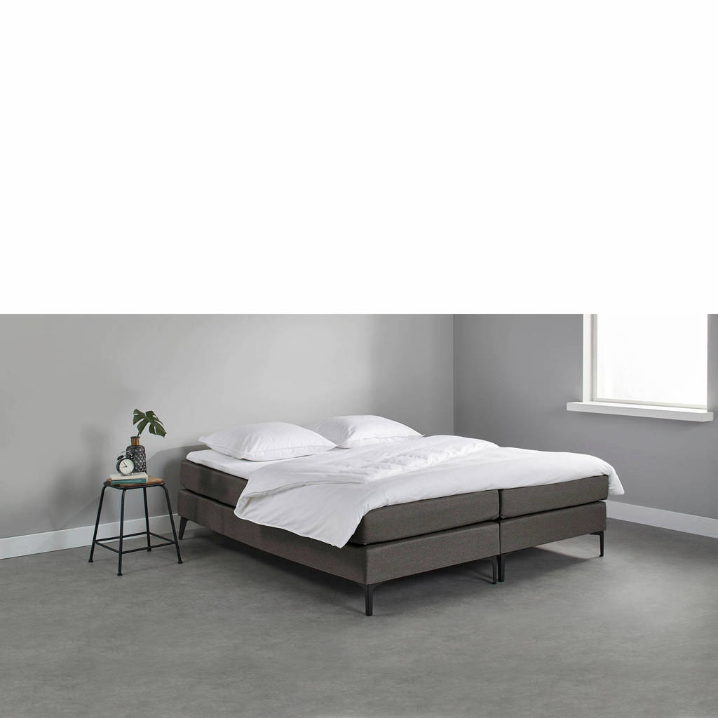 Beter Bed complete boxspring Southampton (160x200 cm), Donkergrijs