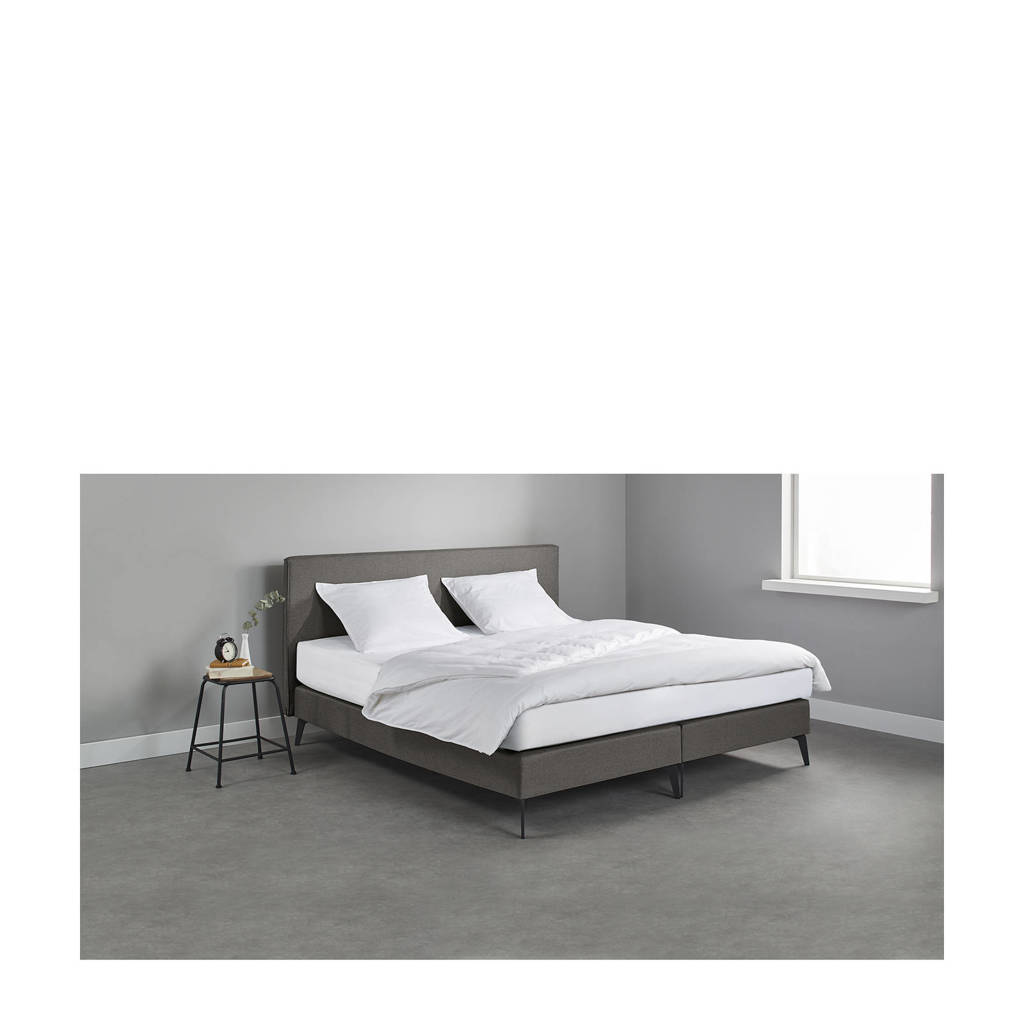 Beter Bed complete boxspring Norwich (140x200 cm), Donkergrijs