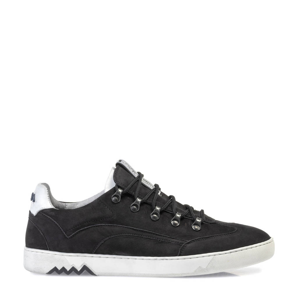 Floris van Bommel Armi  nubuck sneakers zwart, Zwart