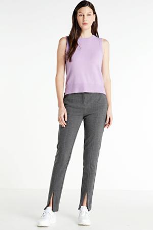 gemêleerde pantalon Kenza grijs