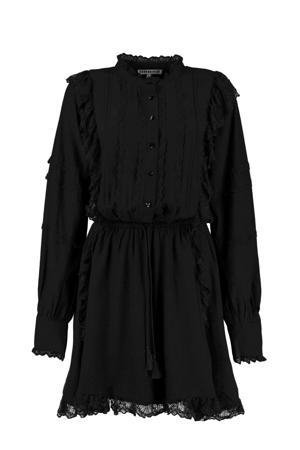 jurk Yara met kant zwart