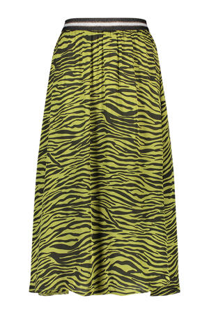 rok Sali met zebraprint groen/zwart