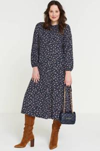 Simply Be jurk met all over print en ruches blauw, Blauw