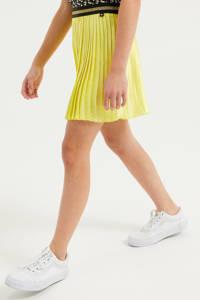 WE Fashion plissé rok met glitters geel, Geel