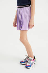 WE Fashion plissé rok met glitters lila, Lila