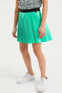 WE Fashion plissé rok met glitters turquoise, Turquoise