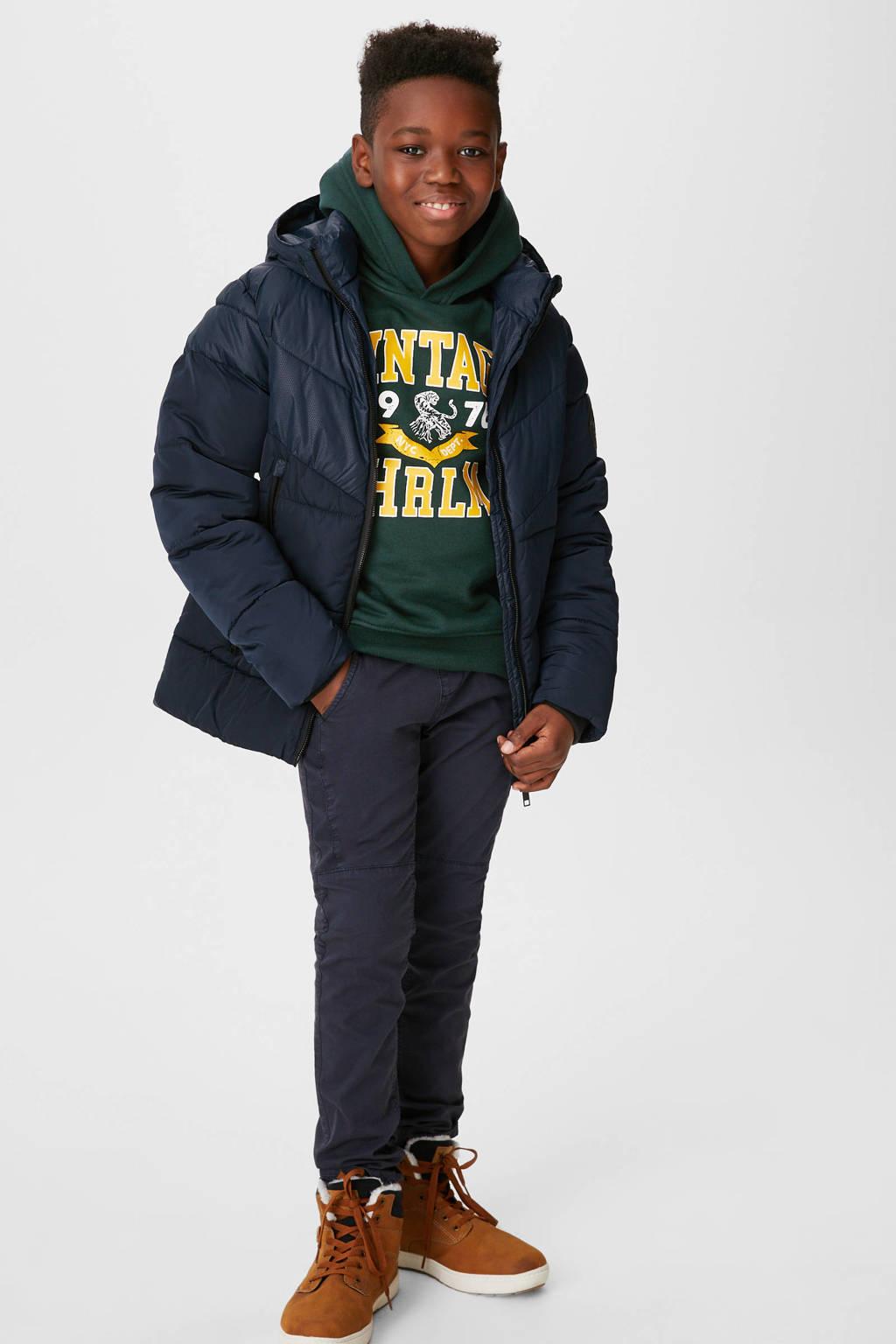 C&A Here & There hoodie met printopdruk donkergroen, Donkergroen